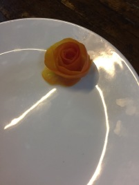 I was so proud of this little tomato rose I made haha